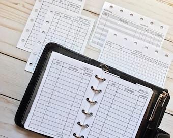 Sampler - Pocket Planner Finance Inserts
