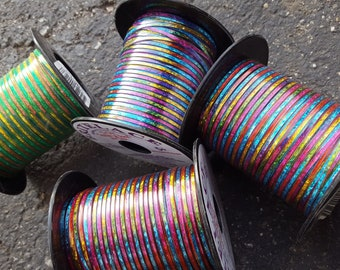 Rainbow Holographic Britelace - Lot of 4 - (Rexlace Spools)
