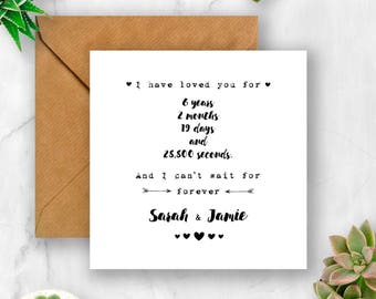 I Have Loved You Card, Love Card, Anniversary Card, Valentine's Card, Husband Card, Wife Card, Girlfriend Card, Boyfriend Card, Fiance Card