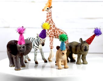 Safari Birthday Party Decorations Zoo Cake Toppers Giraffe Elephant