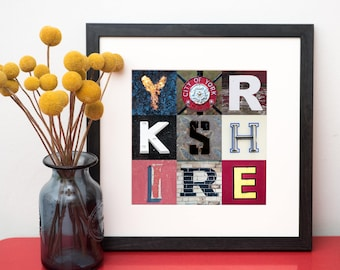Yorkshire Typography Print -  Typography Print - Typography Wall Art - Yorkshire Art - Kate Cooper Photography