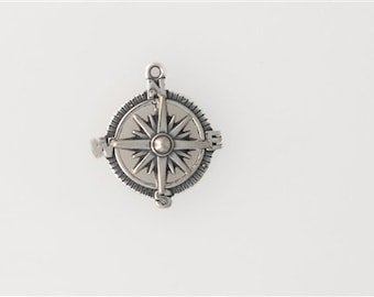 Sterling Silver Movable Compass Charm