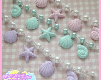 Mermaid bracelet pastel colors cute and kawaii fairy kei lolita style