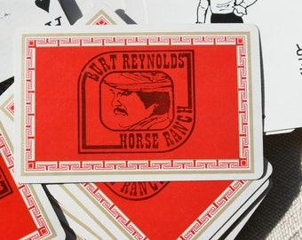 Burt Reynolds Horse Ranch Playing Cards - Vintage Burt Reynolds Memorabilia - Vintage Playing Cards