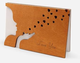 Valentine Card Him, Valentines Day Cards, Valentine Gift Him, Love Cards, Card For Him Boyfriend Husband Men, Boyfriend Card, Wooden Gifts