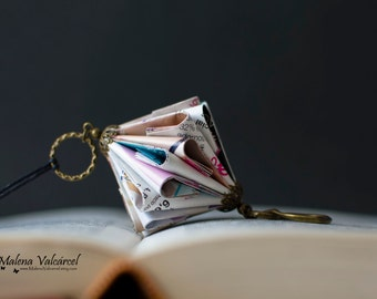 Paper Jewelry - Paper Art - Origami miniature Book
