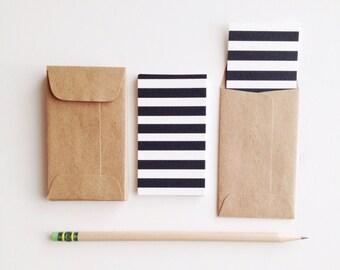 I Love Stripes Mini Flat Cards & Minilopes