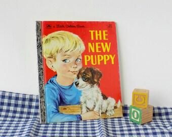 The New Puppy. A Little Golden Book. Kathleen N. Daly. Lilian Obligado. Vintage Kid's Book. Dog Story. Preschool Child.