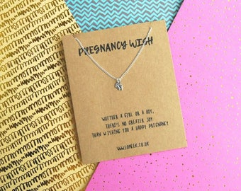 Pregnancy wish - Pregnancy Gift - Pregnancy necklace - Mum to be gift - Mum to be necklace - Baby Shower Gift - Maternity Gift - Pregnancy