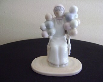 Vintage Flavia Weedn The Balloon Lady Figurine