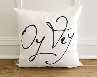 Oy Vey pillow cover