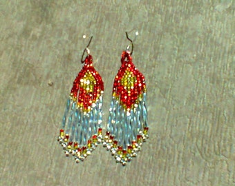 Chandelier Style Beaded Earrings