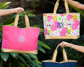 Cabana Large Tote Bag - five great choices- great personalized bridal party gift