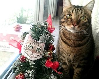 Benutzerdefinierte Haustier Ornament, personalisierte Geschenke für Tierliebhaber, Katze Ornament, Hund Ornament, Haustier-Brosche, Weihnachtsgeschenk,