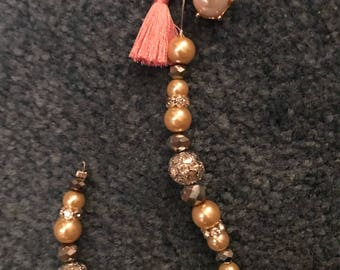 Pearl Single Strand Keychain