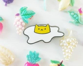 SECONDS SALE! Sunny the Egg Cat Enamel Pin - Hard Enamel Pin