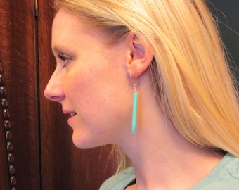 Turquoise Spike Earrings with Sterling Silver Ear Wires