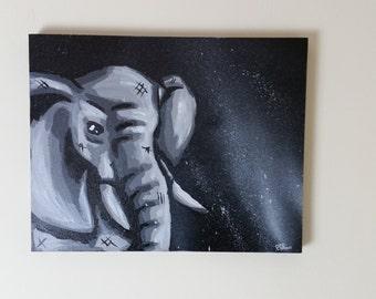 Elephant painting, elephant canvas painting, elephant art, pop art elephant, elephant pop art, elephant canvas, canvas art, wall art, paint