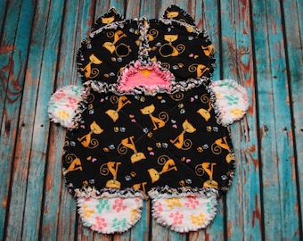 Kallie the Kitten Mini Rag Quilt RTS