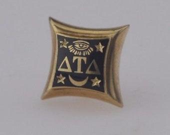 10k Yellow Gold Delta Tau Delta Sorority Pin