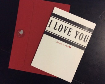 I Love You, Simple As That | Valentine's Day/Sweetheart Card