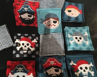 My first memory fabric for baby and toddler pirate themed