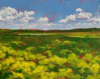Paynes Prairie - Landscape Painting - Original Small Art