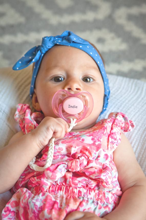 Personalized pacifier pacidoodle pacifiers baby girl like this item negle Image collections