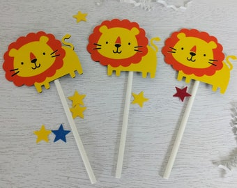 Lion Cupcake Topper, Safari Party, Wildlife Party, Jungle Party