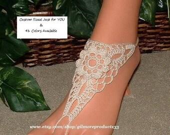 Crochet Footless Beach Wedding Barefoot Shoes Sandals Foot Jewelry Beach Wedding Barefoot Sandals Crochet Beach Sandals Accessories