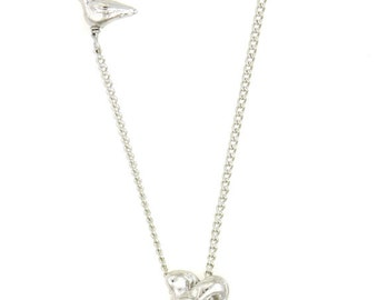 Birdhouse Jewelry - Anatomical Heart Necklace  - silver