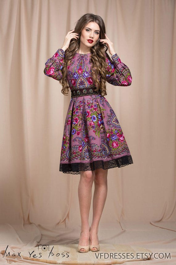 robe d t lilas robe florale boho gypsy floral robe robe. Black Bedroom Furniture Sets. Home Design Ideas