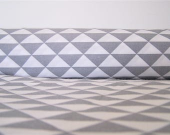 Coupon 2 colours, patterns triangles 55 X 38 cm, fabric cotton