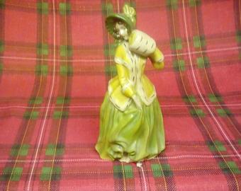 Fancy lady in green dress