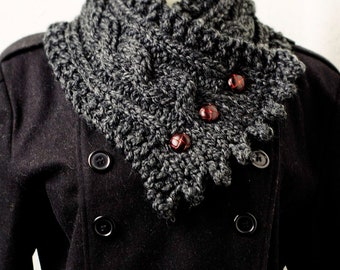 The Fisherman's Wife Neck Warmer in Caviar