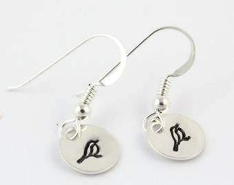 Bird Earrings - Song Bird Earrings - Sterling Silver Earrings - Dangle Earrings - Drop Earrings - Bird Lover Gift - Earrings For Teen