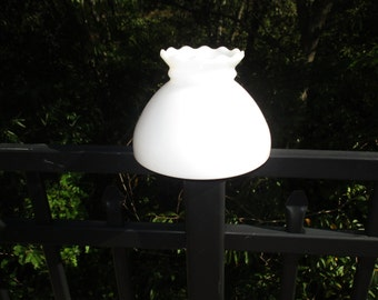 Vintage Scalloped Top Milk Glass Lamp Shade
