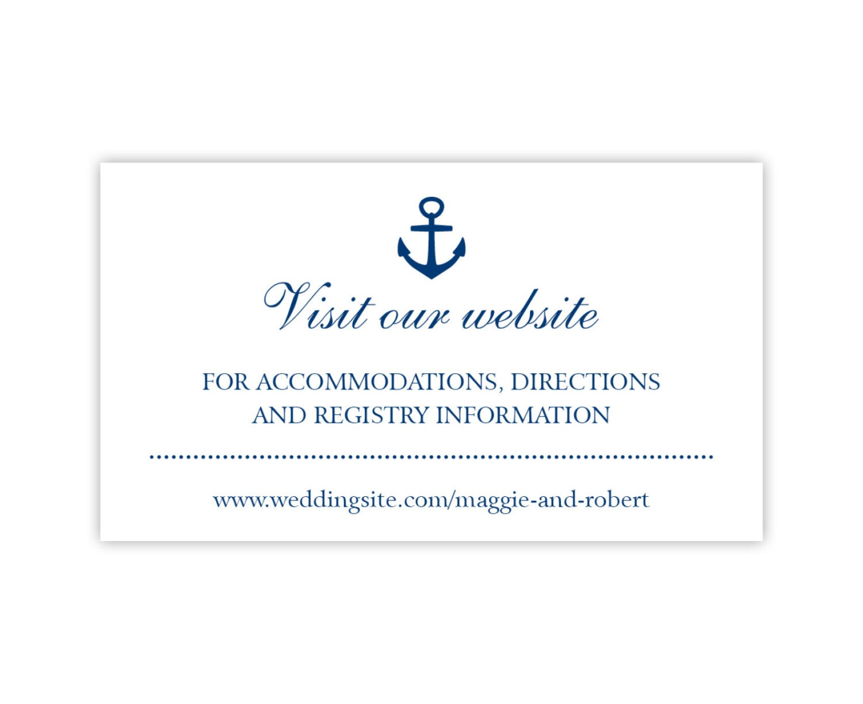 Wedding Website Cards, Enclosure Cards, Wedding Hashtag Cards or ...
