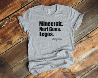 Minecraft Mom Shirt-Boymom Shirt-Lego Mom Shirt-Minecraft Birthday Party-Nerf Gun Birthday-Minecraft Birthday Shirt-Lego Birthday Shirt