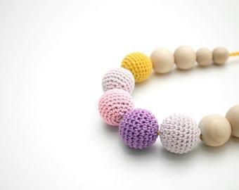 Fresh Ice cream Crochet Nursing necklace, Breastfeeding necklace, Baby Shower Gift, Baby Teething Toy, Lactancia necklace