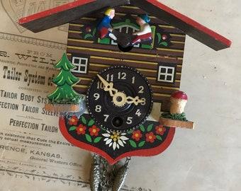 """4"""" vintage German cuckoo clock"""