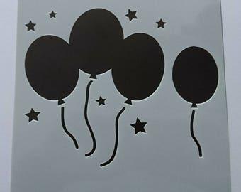 Birthday Balloons Stencil / Mask by Imagine Design Create
