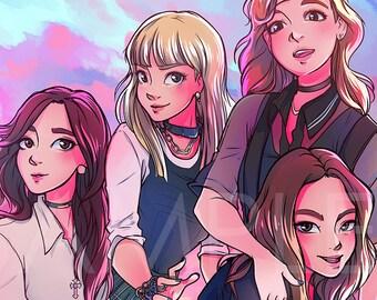 BLACKPINK kpop PRINT | Boombayah| Lisa, Jennie, Jisoo, Rosé
