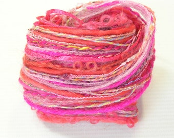 Yarn Variety Hank in pink yarns