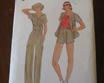 Vintage 70s Jane Tise Butterick 5991 Misses Shirt Pants and shorts Pattern sz 8 B31.5