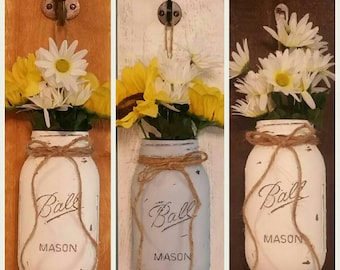Handcrafted Mason Jar Sconce, Wall Decor, Sconces, Wood Sconce