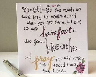 4.5 Card - Breathe and Pray