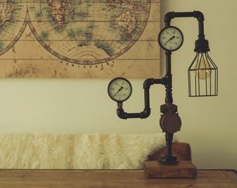 Industrial lamp Steampunk galvanized/Industrial Galvanized Steampunk lamp
