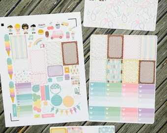 Sweet Shoppe Weekly Planner Stickers Kit, for use with Erin Condren, Happy Planner