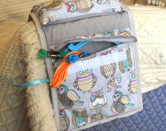 Owl Party Sewing Caddy, Hand Sewing Organizer